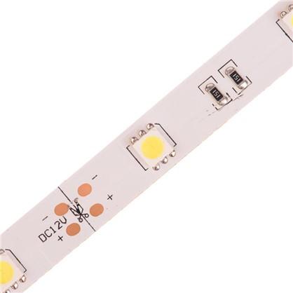 Светодиодная лента smd 5050 7.2Вт/30LED/м свет холодный белый IP23