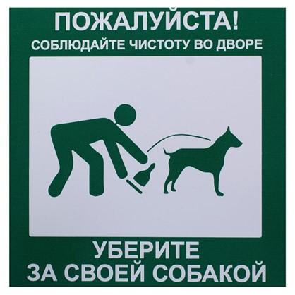 Купить Табличка 20 20 Уберите за собакой дешевле