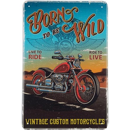 Табличка Born to be Wild 20х30 см