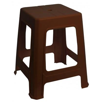 Купить Табурет пластиковый 45 см цвет коричневый дешевле