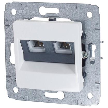 Телефонная розетка Legrand Cariva RJ11 2 разъема цвет белый