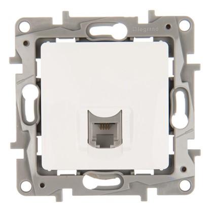 Телефонная розетка Legrand Etika RJ11 цвет белый