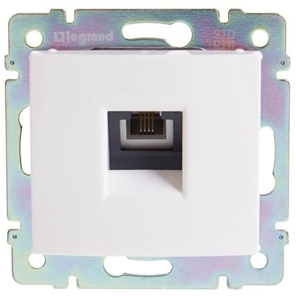 Телефонная розетка Legrand Valena RJ11 1 разъем цвет белый