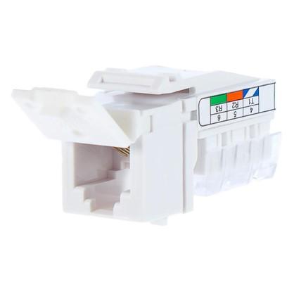 Телефонная розетка LK Studio LK45 RJ11 1 разъем цвет белый