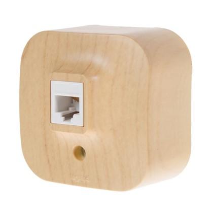 Телефонная розетка Quteo RJ11 цвет дерево