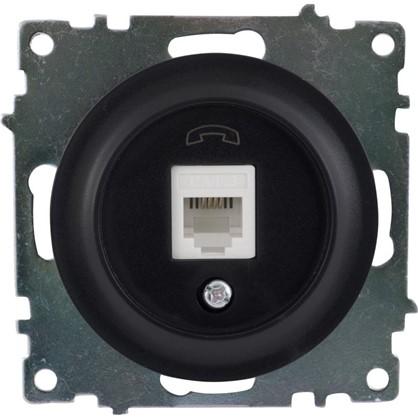 Телефонная розетка RJ11 Florence цвет чёрный