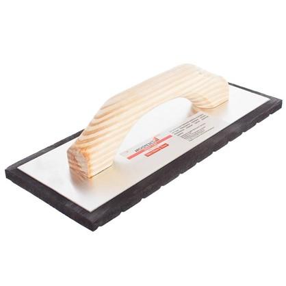 Терка с деревянной ручкой 280х140 мм губка 10 мм