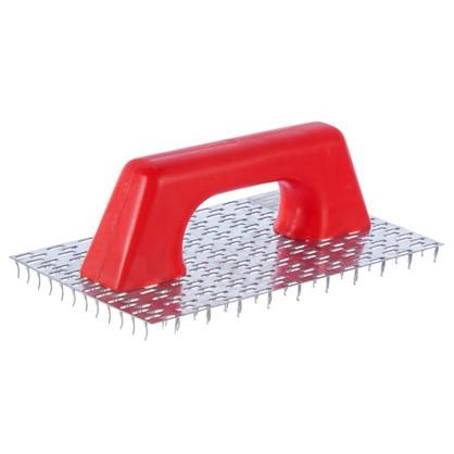 Терка с гвоздями для удаления обоев и декорирования пластиковая ручка
