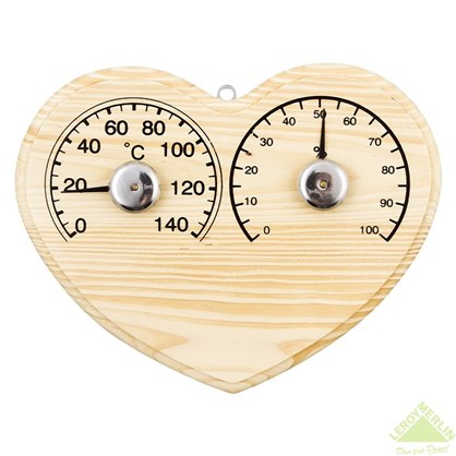 Термо-Гигрометр для сауны сердечко SN102