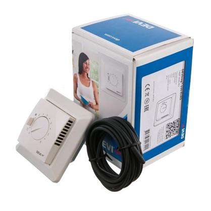 Купить Терморегулятор Devireg 530 с датчиком пола цвет белый дешевле