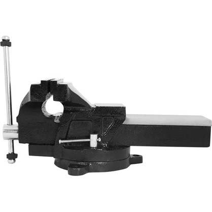 Купить Тиски слесарные поворотные Калибр ТПСН-150 с наковальней 150 мм дешевле