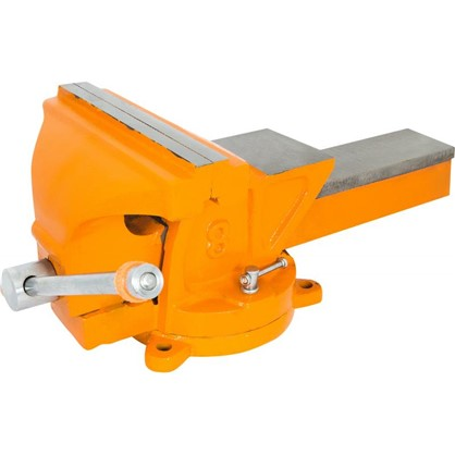 Купить Тиски слесарные поворотные Калибр ТПСН-200 с наковальней 200 мм дешевле