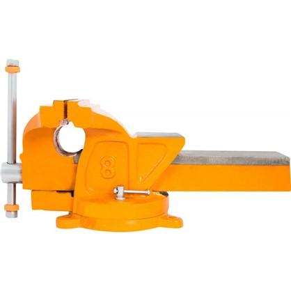 Тиски слесарные поворотные Калибр ТПСН-200 с наковальней 200 мм