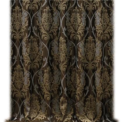 Ткань 280 см жаккард цвет коричневый