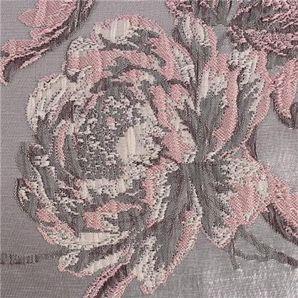 Ткань Цветы 3D-жаккард 285 см цвет розовый
