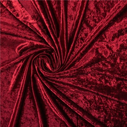 Ткань Людовик велюр 300 см цвет бордовый