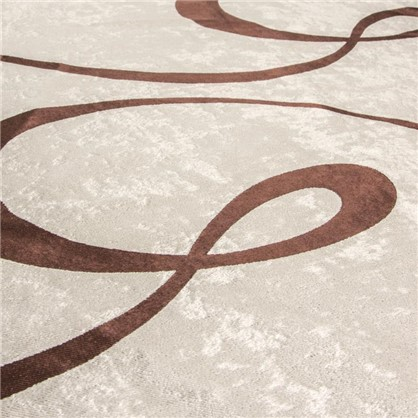 Ткань Абстракция 280 см блэкаут цвет бежевый