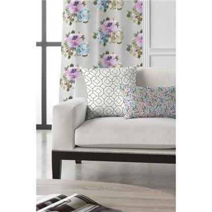 Ткань Алегандра 280 см цветы цвет серый