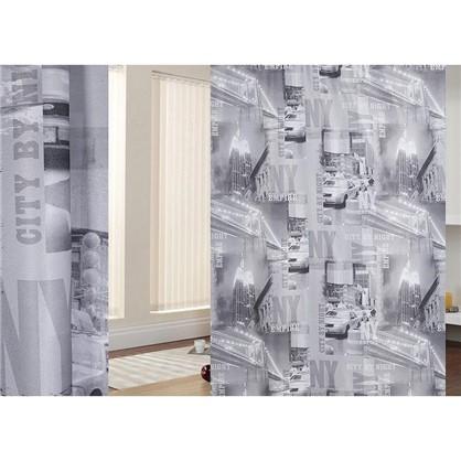Ткань Город-газета 280 см цвет серый