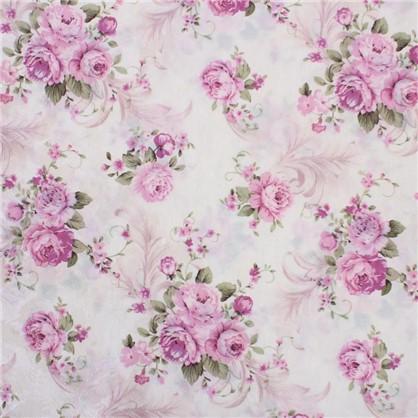 Купить ткань Интерио розы  ширина 150 см дешевле