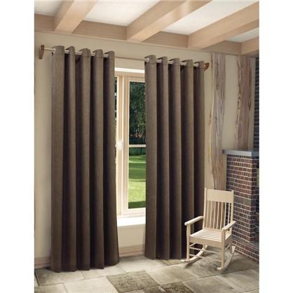 Ткань Рогожка 280 см цвет коричневый цена
