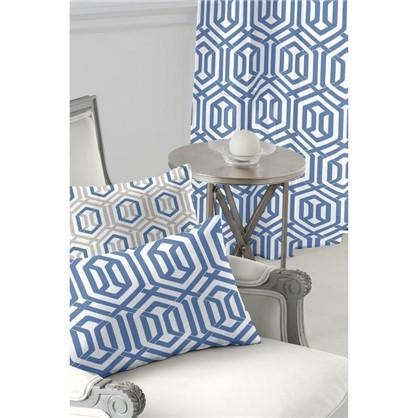 Ткань Села лисо 280 см абстракция цвет синий