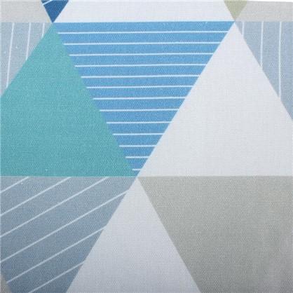 Ткань Турия 280 см абстракция цвет синий