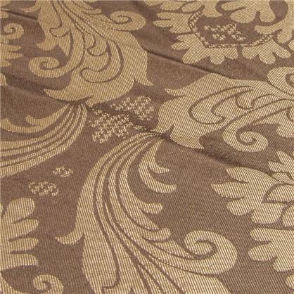 Ткань Вензель 145 см жаккард цвет коричневый