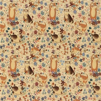 Ткань Задорные котята 160 см гобелен