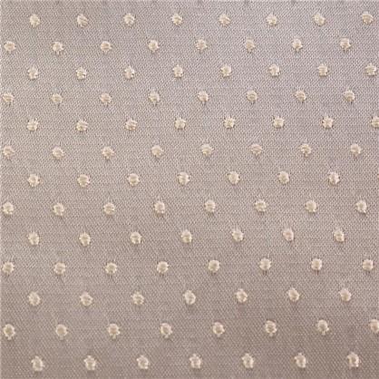 Купить Ткань жаккард Горошек ширина 280 см цвет бежевый дешевле