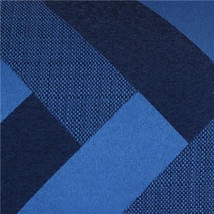 Ткань жаккард Лен зигзаг 280 см цвет синий
