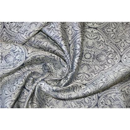 Ткань жаккард Медальон 280 см цвет синий