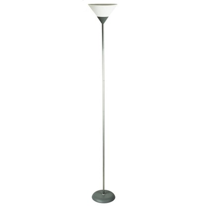 Торшер Конус-1 1xE27х60 Вт пластик цвет серебристый