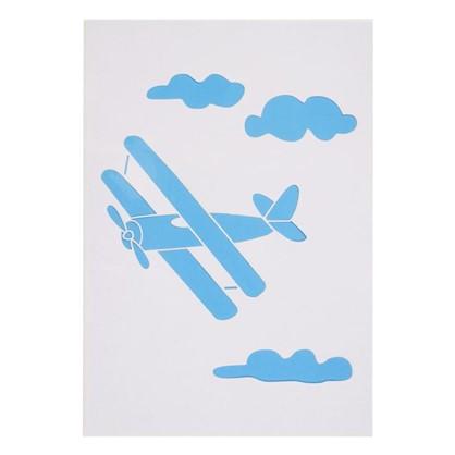 Трафарет самоклеящийся Самолет 25х35 см