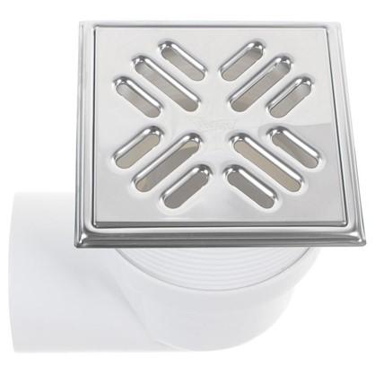 Купить Трап для душа 150х150 мм горизонтальный слив нержавеющая сталь дешевле