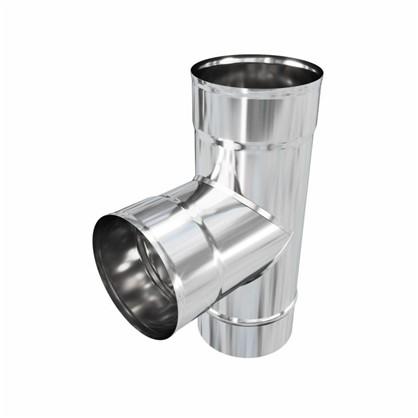 Купить Тройник 115 мм 0.5 м 90 г нержавеющая сталь дешевле