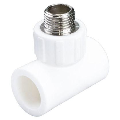 Тройник комбинированный наружная резьба 25х1/2х25 мм полипропилен