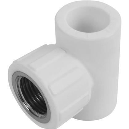 Купить Тройник комбинированный внутренняя резьба 20х1/2х20 мм полипропилен дешевле
