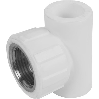 Тройник комбинированный внутренняя резьба 20х3/4 мм полипропилен