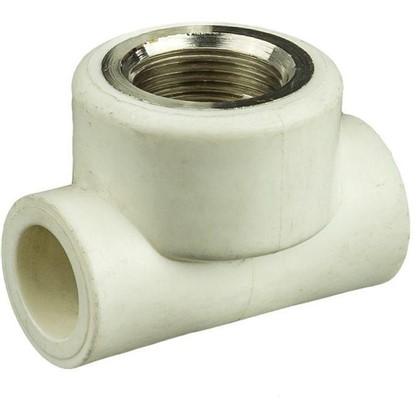 Тройник комбинированный внутренняя резьба 20х3/4х20 мм полипропилен