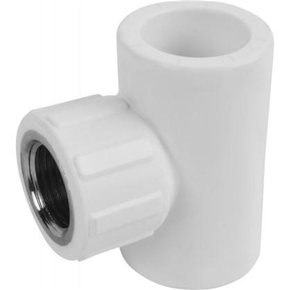 Купить Тройник комбинированный внутренняя резьба 25х1/2х25 мм полипропилен дешевле