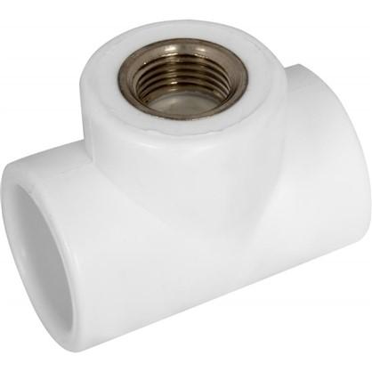Купить Тройник комбинированный внутренняя резьба 32 мм х 1/2 полипропилен дешевле