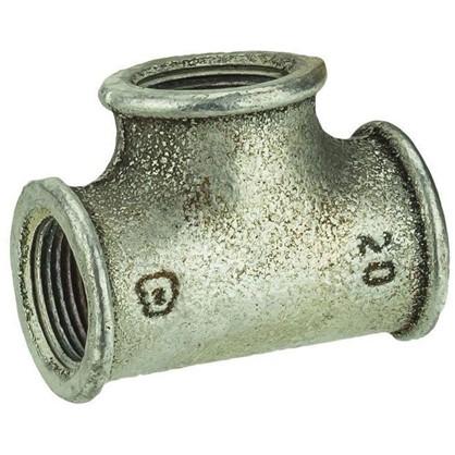 Тройник оцинкованный внутренняя резьба 3/4 мм чугун