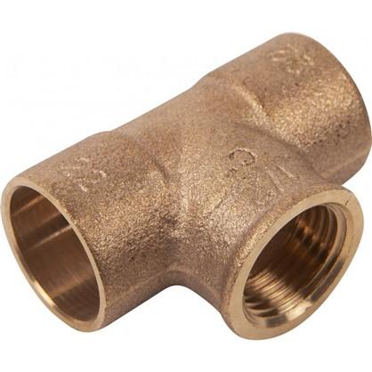 Тройник Viega 22х1/2х22 мм внутренняя резьба медь