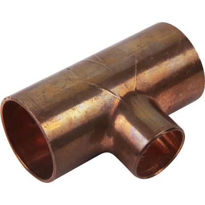 Тройник Viega 22х15х22 мм наружное-наружное-наружное соединение медь
