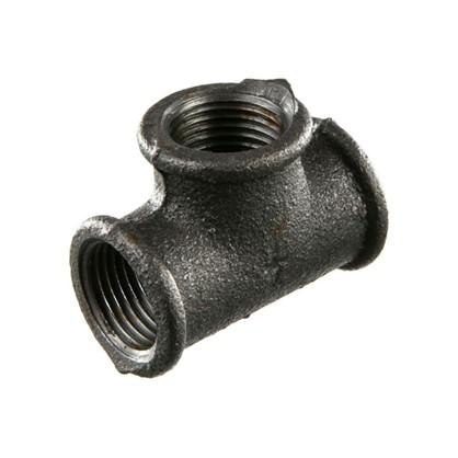 Тройник внутренняя резьба 1/2 мм чугун цвет черный