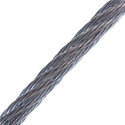 Трос DIN 3055 4 мм 25 м сталь цвет цинк