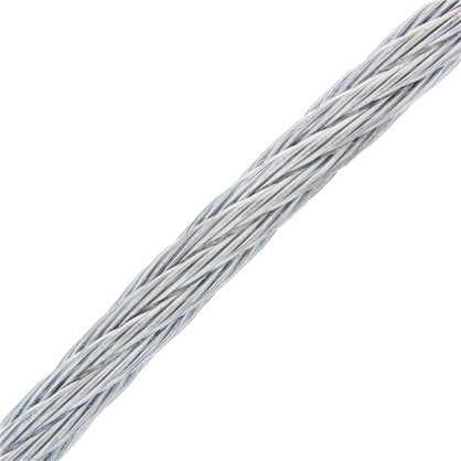 Трос DIN 3055 4 мм 50 м сталь цвет цинк