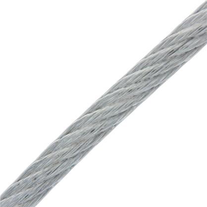 Трос в оболочке PVC 3/4 мм 5 м сталь цвет цинк