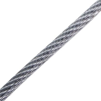 Трос в оболочке PVC 3/4 мм 50 м сталь цвет цинк
